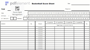 Basketball Score Sheets 30 Basketball Stat Sheet Excel Simple Template Design