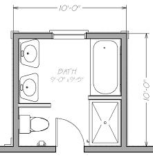 Small Bathroom Floor Plans With Both Tub And Shower Blueprint View Mesmerizing Floor Plan Small Bathroom Minimalist