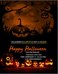 Halloween Flyers Templates Ms Word Halloween Party Flyer Templates Word Excel Templates