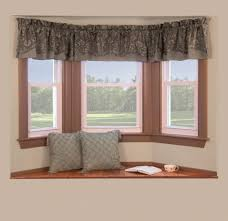 Decorations:Bay Window With Clever Window Curtain Ideas Has Small Hanging  Curtain On Top Clever