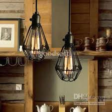 loft american country style wrought iron retro small cages pendant light chandelier bar light dia 100mm h 190mm multi pendant light fixture lighting at home american country style loft