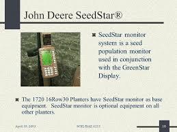 April 19 2003soil Bae 4213 Variable Seeding Rate