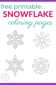 Small Picture Free Printable Snowflake Coloring Pages What Mommy Does