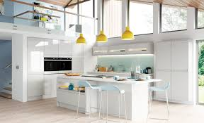 kitchen. Modern Contemporary Strada Gloss Handless Kitchen In Light Grey G