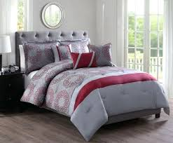 image of modern red black and gray comforter sets