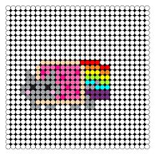 Mini Perler Bead Patterns Classy Mini Nyan Cat Perler Bead Pattern Bead Sprites Characters Fuse