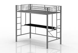 metal bunk bed with desk. Amazon.com: Emily Premium Twin Loft Bunk Bed With Desk, Tiny House Style, Sturdy Metal Frame And Dual Ladders, Accomodates Size Mattress (Silver): Desk W