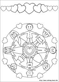 Kinderen Van Overal School Culturen Mandala Coloring Mandala