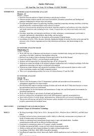 It Systems Analyst Resume Samples Velvet Jobs