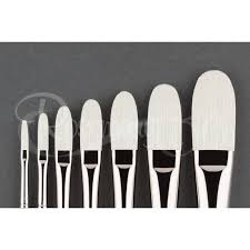 Ivory Long Filberts | Rosemary & Co Artist Brushes