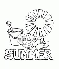 Small Picture Coloring Pages Summer Coloring Page For Kids Seasons Coloring