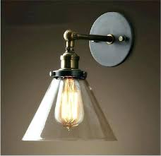 wall lamp sconces battery operated bedroom wall lights vintage industrial modern contemporary glass sconce funnel wall