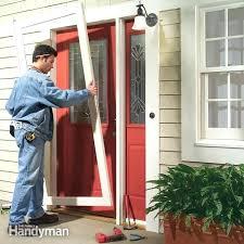 replacing storm door how to install a storm door pella replacement storm door screens
