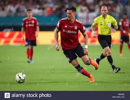 miami gardens florida usa 28th july 2018 fc bayern forward sandro wagner 2 in action during the second half of an international champions cup match