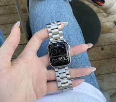 Dây Đồng Hồ Bằng Inox Cho Đồng Hồ Thông Minh Apple Watch Series 6 5 4 3 2 1  42 38 40 44mm chính hãng