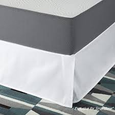 14 bed skirt. Modren Bed SmartBase Easy On  Off Bed Skirt For 14 Inch Mattress  Foundation Twin To E