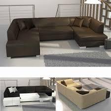 Wohnlandschaft U Form Neu Xxl Sofa L Form Leder