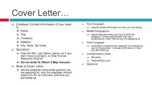 Employer Contact Information Cover Letter Samples Cover Letter