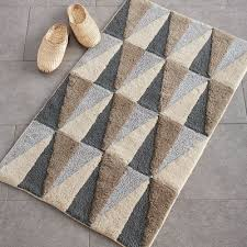 gallery of loop light grey bath rug reviews crate and barrel top bathroom rugs mats superb 7