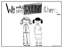 Small Picture Anti Bully Coloring Sheets At Bullying Pages glumme
