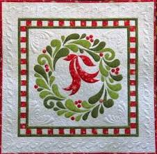 47 best Applique images on Pinterest | Embroidery ideas ... & 'feather fancy' christmas wreath applique wall hanging quilt pattern Adamdwight.com