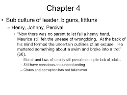 the lord of the flies chapters ppt 2 chapter