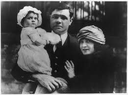 babe ruth hit a home run celebrity product endorsements at babe ruth wife and child by underwood underwood 1925 library of congress