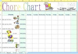 Free Chore Chart Templates For Kids Template Lab Design Freepik