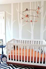 woodland themed nursery decor navy and orange project bedding uk