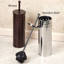 toilet plunger holder with lid