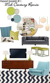 Mid Century Modern Furniture La Beauteous Design Finch Puts Together Retro Glam Mood Boards To Help Clients