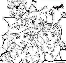 Coloriage Halloween Pat Patrouille Dora Exploratrice Citrouille Dessin