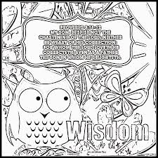 Wisdom Proverbs Coloring Page