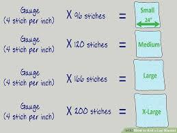 Knitting Stitch Gauge Chart 3 Ways To Knit A Lap Blanket Wikihow