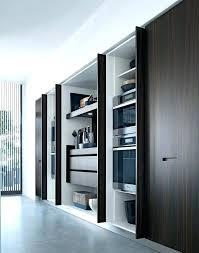 retractable cabinet doors winsome kitchen cuisine chic sliding door track system