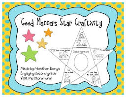 Good Manners Chart For Class 1 Good Manners Book Worksheets Teaching Resources Tpt