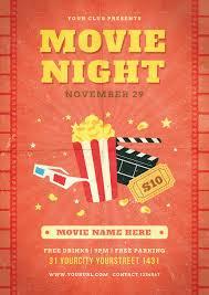 Movie Flyer Movie Night Flyer By Infinite24 GraphicRiver 6