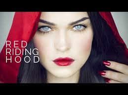 red riding hood i make up look red ombre lips