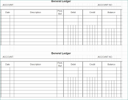 Account Ledger Printable Account Ledger Template Realistic Accounting Worksheet Template