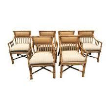 palecek dining chairs. palecek bamboo dining chairs - set of 6