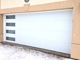 Modern Garage Doors Cost Adorable Modern Glass Garage Doors With