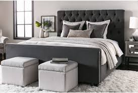 leighton california king upholstered panel bed  living spaces