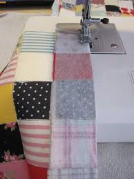 102 best Sewing - Blankets/Quilts images on Pinterest | Knitting ... & Postage-Stamp Scrap Fabric Patchwork Quilt tutorial has you iron squares to  interfacing and then sew the seams. pictures are worth a thousand words! Adamdwight.com