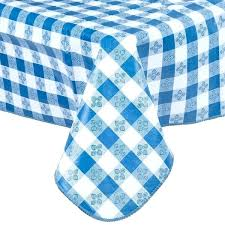 red gingham plastic tablecloth round