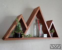 three mountains shelf triangle shelves