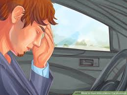 minor car accident. image titled deal with a minor car accident step 2
