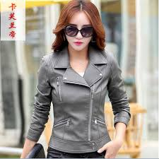 whole leather jackets for women jaqueta de couro female jacket coat 2017 autumn new fashion plus size turn collar las outerwear leather jackets for