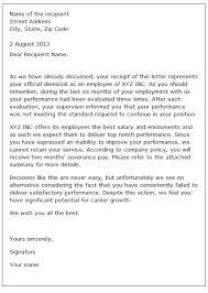 Dismissal Letter Sample 2