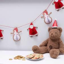 Santa And Snowman Paper Honeycomb Character Bunting