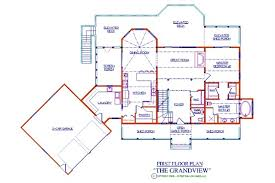 >grandview log floor plan log cabin 4155 sq ft expedition log  grandview first floor